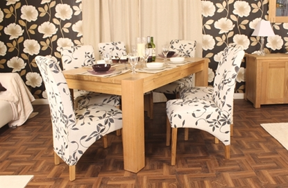 Picture of Aston Oak Dining Table (4-6 Seater)