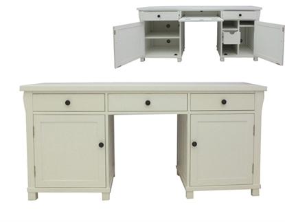 Picture of Hampton Twin Pedestal Hidden Computer Desk