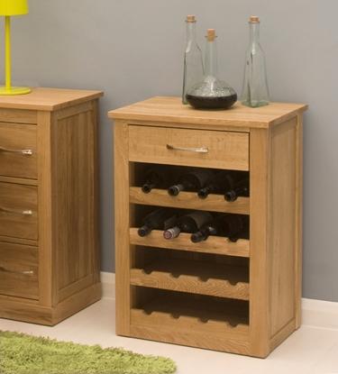 Picture of Mobel Oak Wine Rack Lamp Table