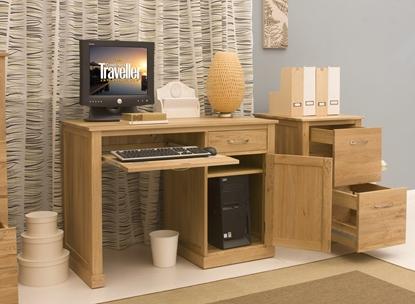 Picture of Mobel Oak Single Pedestal Computer Desk