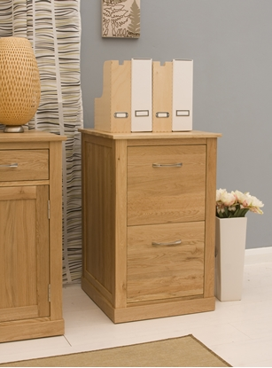 Picture of Mobel Oak Two Drawer Filing Cabinet