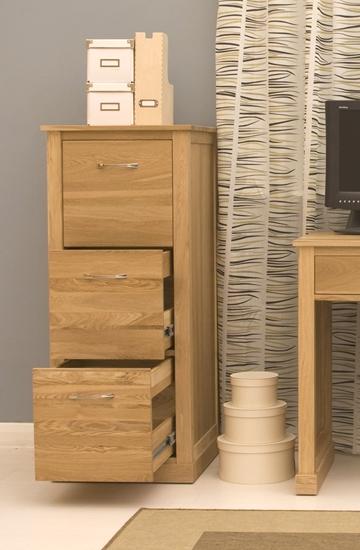 picture of mobel oak 3 drawer filing cabinet