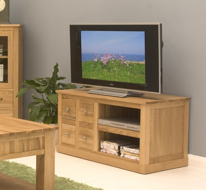 Picture of Mobel Oak Four Drawer Television Cabinet