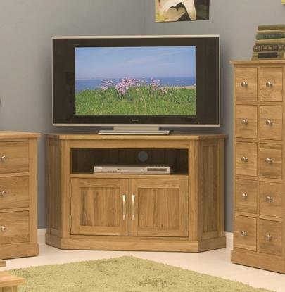 Picture of Mobel Oak Corner Television Cabinet