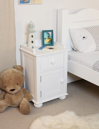 Picture of Nutkin Bedside Cabinet One Door One Drawer