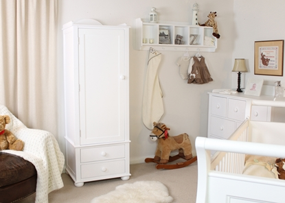 Picture of Nutkin Childrens Single Wardrobe With Drawers