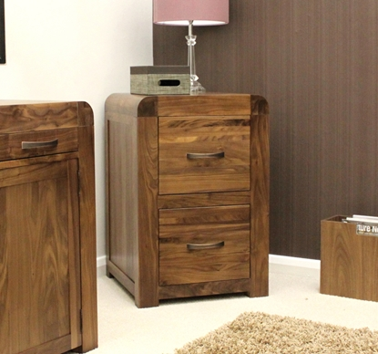 Picture of Shiro Walnut Two Drawer Filing Cabinet