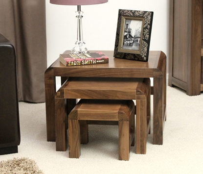 Picture of Shiro Walnut Nest of 3 Coffee Tables