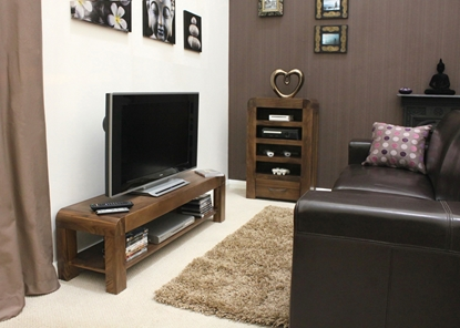 Picture of Shiro Walnut Low TV Cabinet