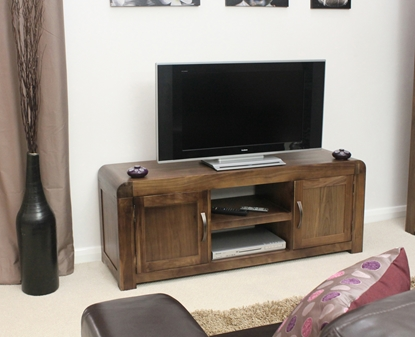 Picture of Shiro Walnut Widescreen Television Cabinet