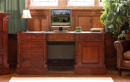 Picture of La Roque Twin Pedestal Computer Desk