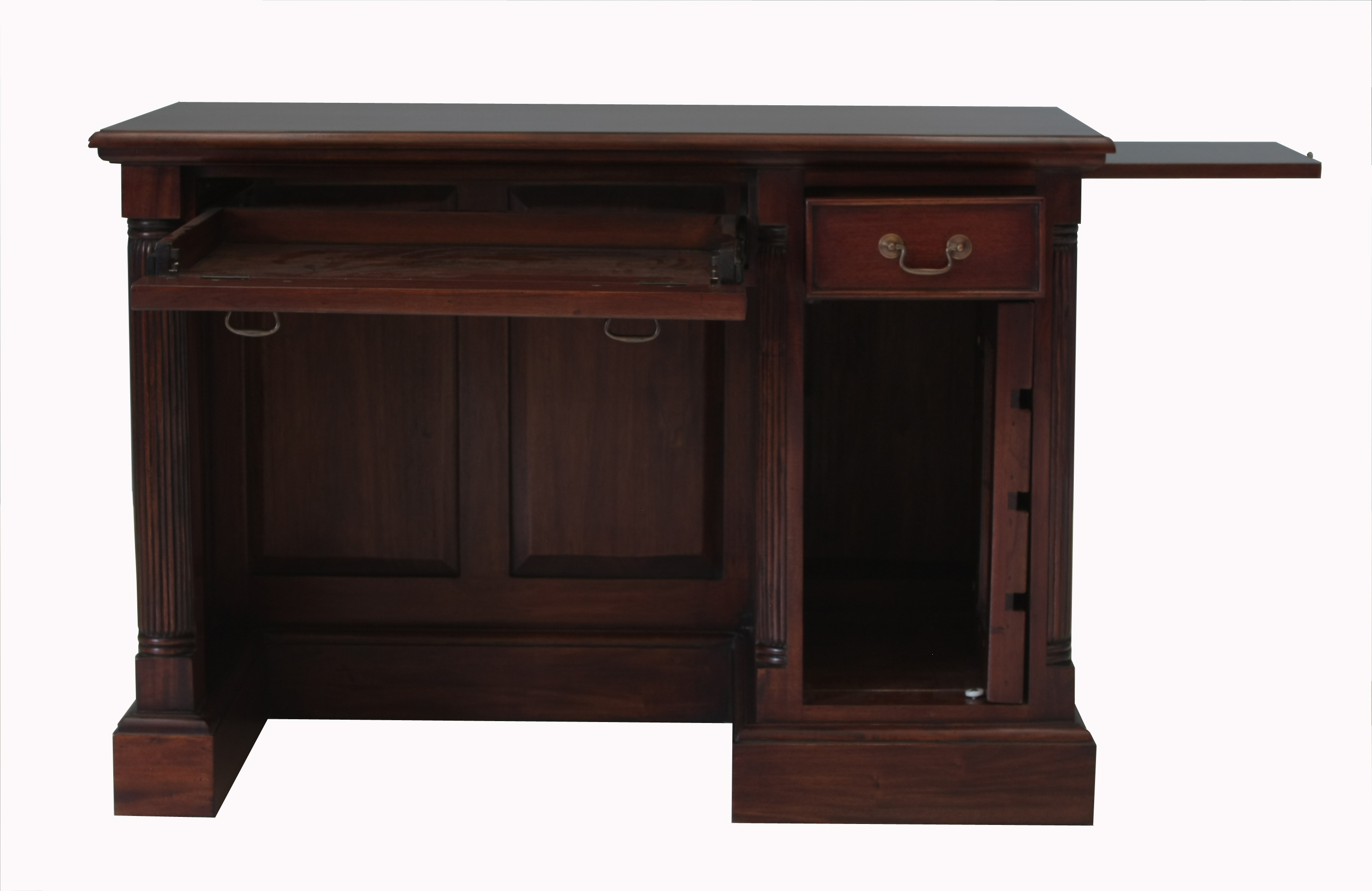 Picture Of La Roque Single Pedestal Computer Desk