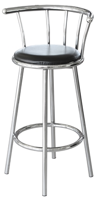 Picture of Chrome Swivel Bar Stool