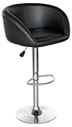 Picture of Black Bucket Seat Bar Stool