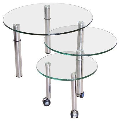 Picture of Circular Glass Nest of Tables