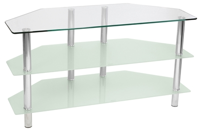 Picture of Glass Angled TV Stand