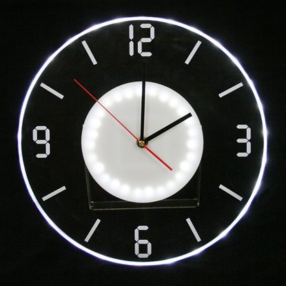 Picture of White Illuminations Clock
