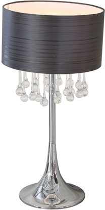 Picture of Dark Shade Crystal Table Lamp