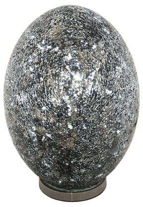 Picture of Mosaic Giant Egg Lamp, Black, Blue, Amber, Purple, Red, White