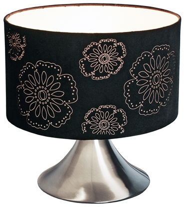Picture of Black Flower Shade Table Lamp