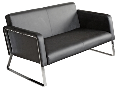 Picture of Black Two Seater Sofa