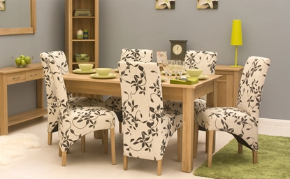 Picture of Mobel Oak 150cm Dining Table (4/6 Seater)