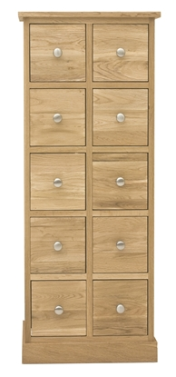 Picture of Mobel Oak Multi-Drawer DVD / CD Storage Chest